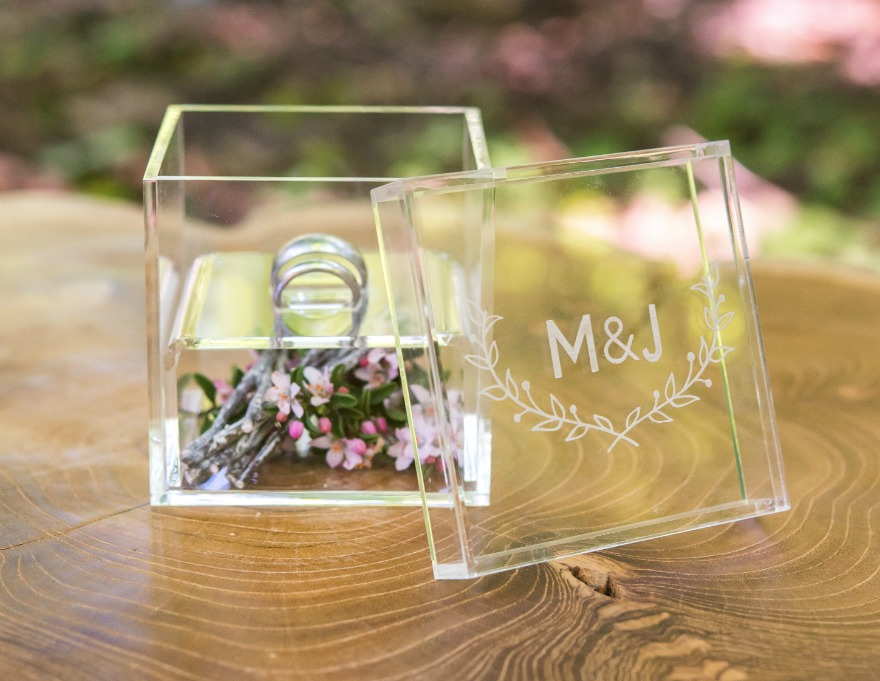 Monogrammed ring box | Confetti.co.uk