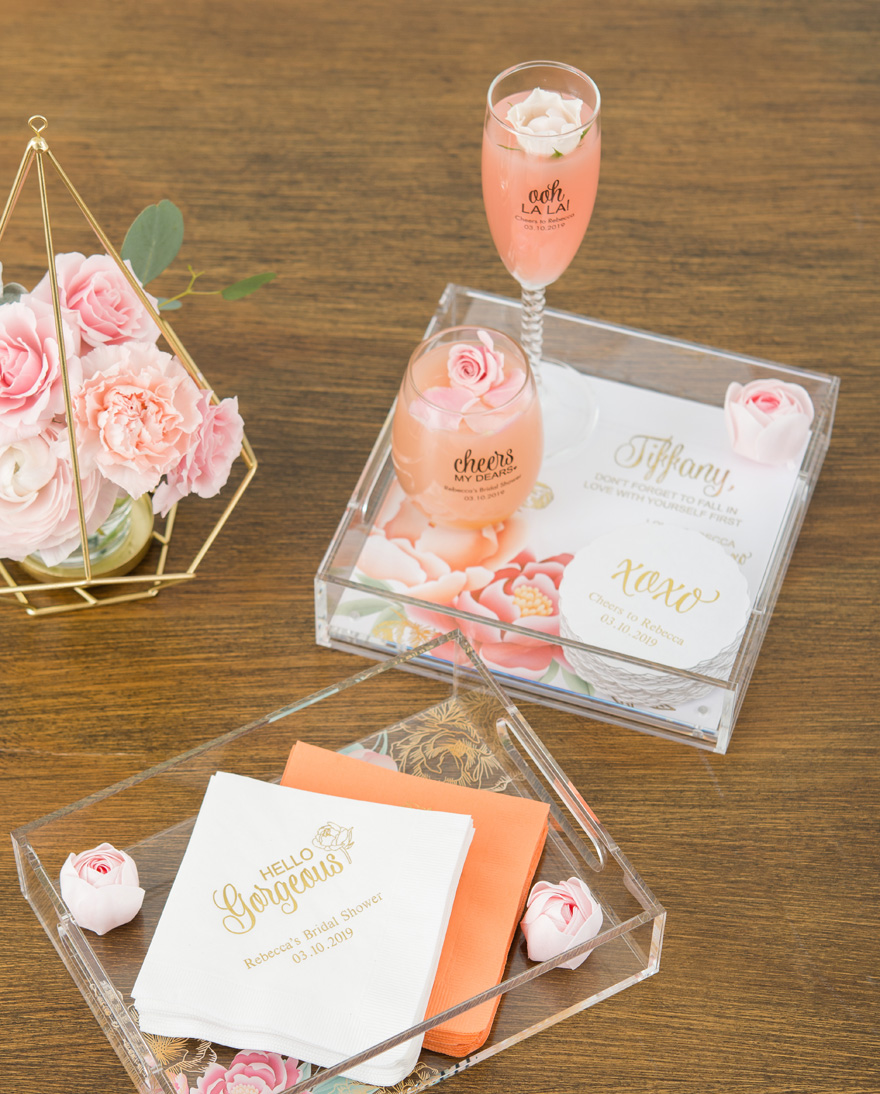 Bridesmaid Gifts Presented on an Acrylic Tray | Confetti.co.uk