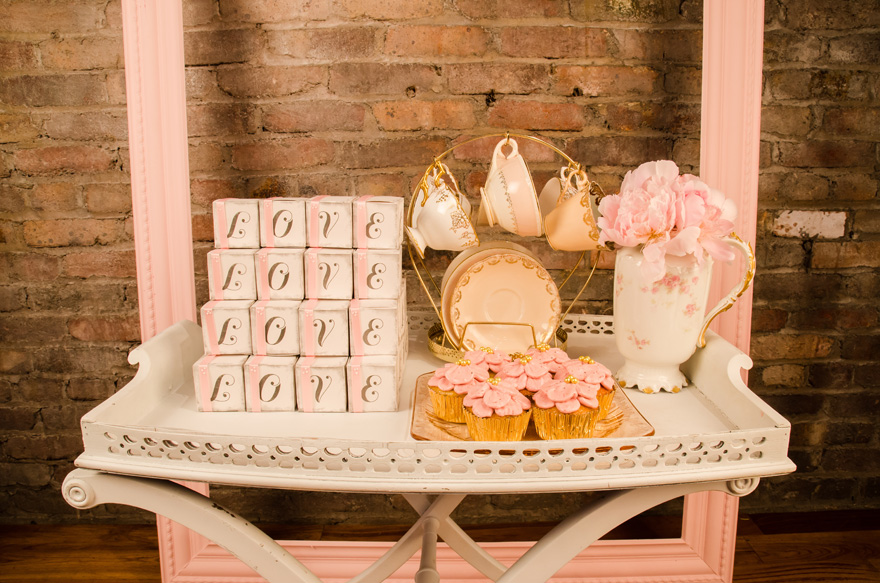 Pink White and Gold Vintage Tea Party Afternoon Tea Party Ideas | Confetti.co.uk
