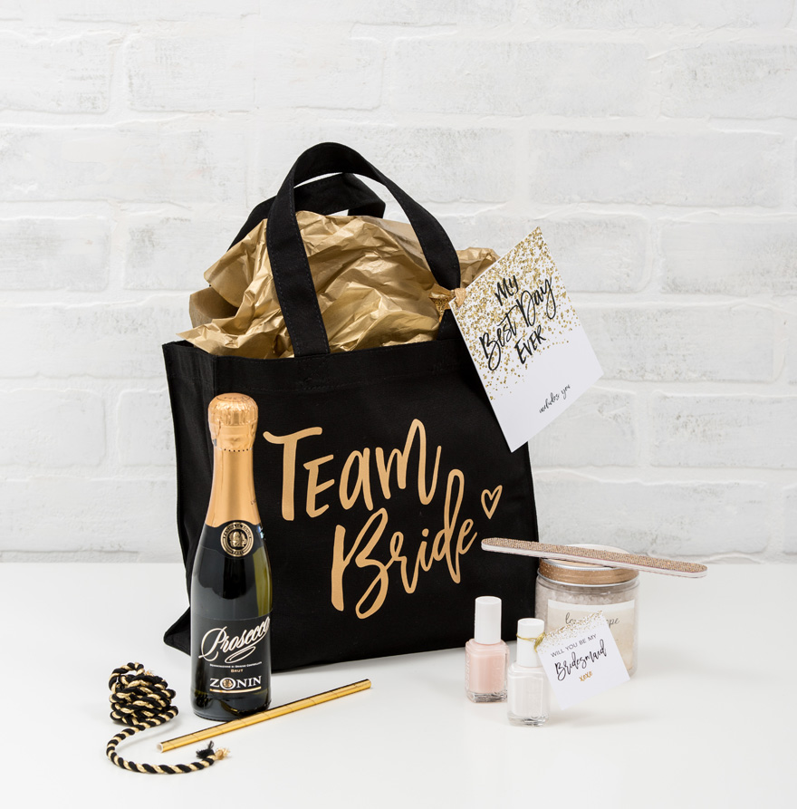 Team Bride Gift Bag of Goodies | Confetti.co.uk