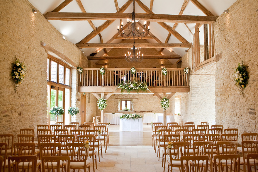 The Kingscote Barn Gloucestershire Main Barn Spring and Summer Weddings | Confetti.co.uk