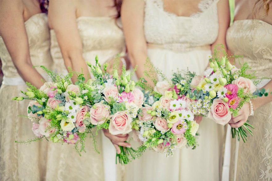 Vanilla Rose Spring Summer Wedding Flowers and Bridesmaid Bouquets | Confetti.co.uk