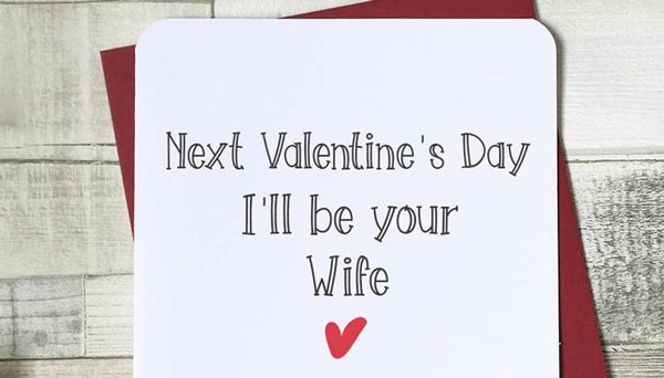 Valentine's day card for a fiance