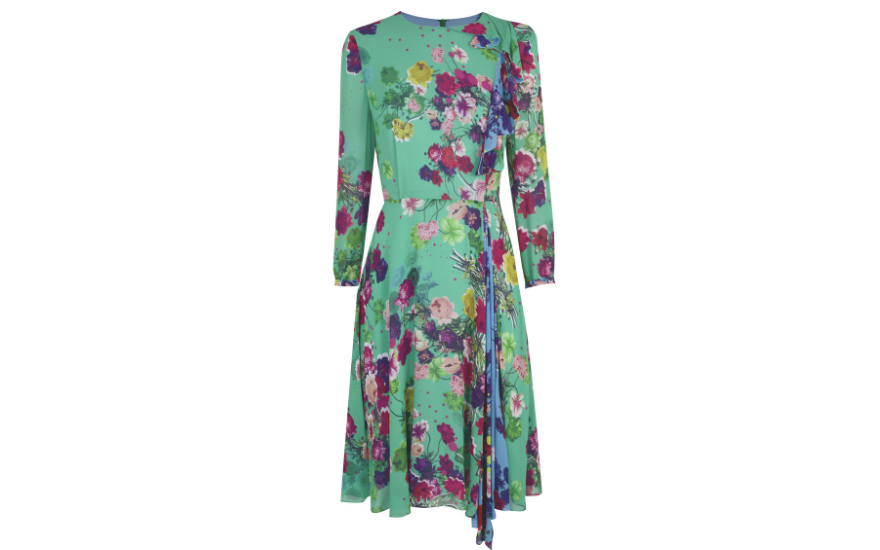 green-floral-dress-for-weddings
