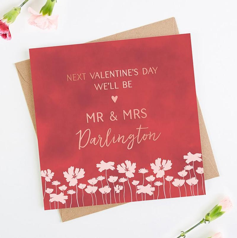 Engaged Valentine's Day card