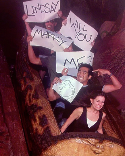 Creative Log Flume Wedding Proposal - Will you Marry Me | Confetti.co.uk