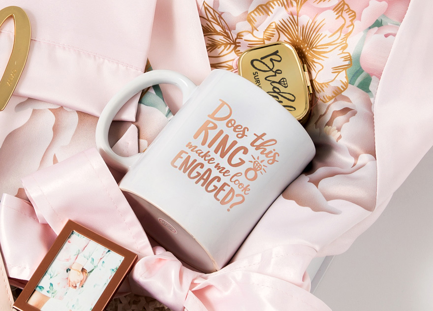 Does This Ring Make Me Look Engaged Personalised Coffee Mug Cup Engagement Gift Idea | Confetti.co.uk