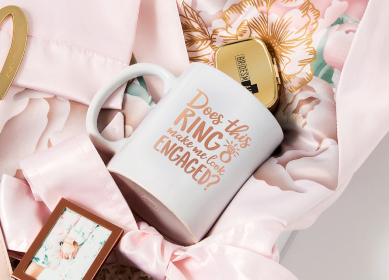Does This Ring Make Me Look Engaged Personalised Coffee Mug Engagement Gift Idea | Confetti.co.uk