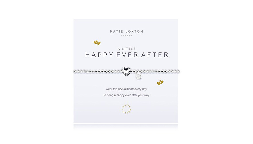 Happy Ever After Silver Bracelet With Crystal Heart Charm | Confetti.co.uk
