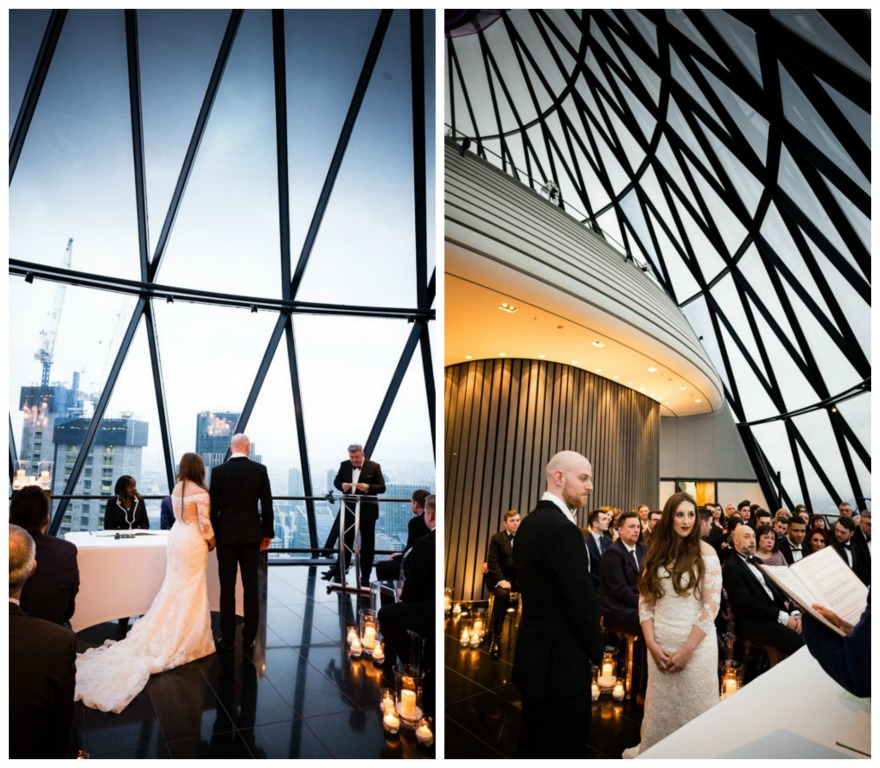 Isabel and Andrew's wedding at the Gherkin by Douglas Fry | Confetti.co.uk