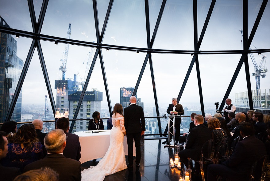 Isabel and Andrew's wedding at the Gherkin by Douglas Fry Wedding Photography | Confetti.co.uk