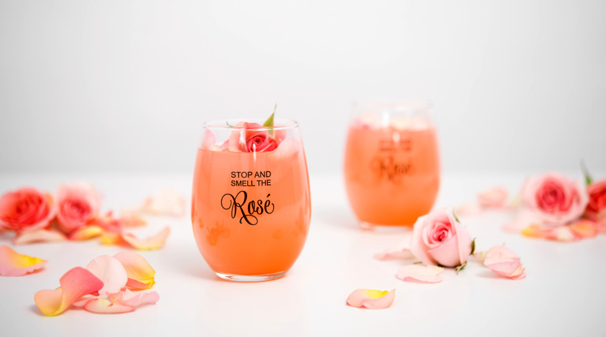 Stop and Smell the Rosé Pink Rose Cocktail Drink Idea | Confetti.co.uk