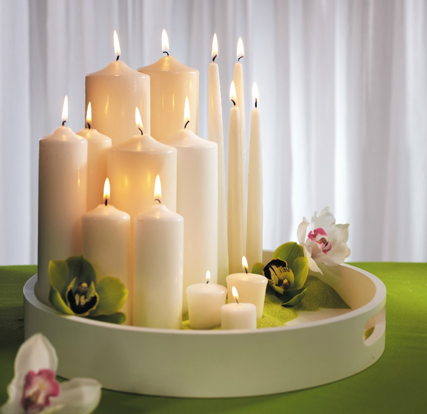 Assorted candles and lighting | Confetti.co.uk