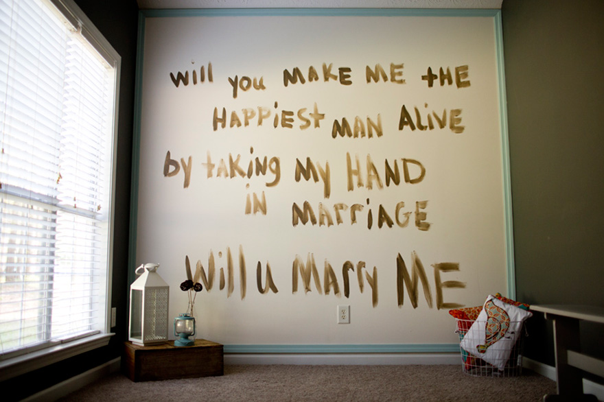 Will you Marry Me Painted on the Wall by Taken by Tate | Confetti.co.uk