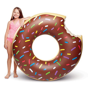 Chocolate Donut with Sprinkles Pool Float | Confetti.co.uk