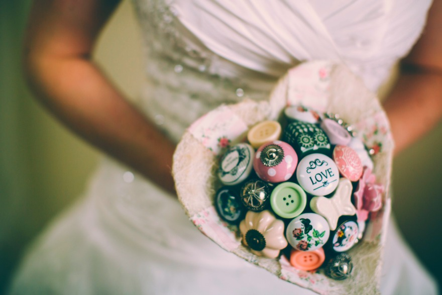 Heart button bouquet by I Heart Buttons | Confetti.co.uk