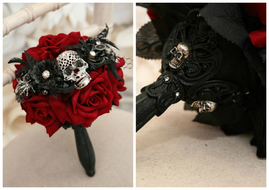 Alternative Gothic style bouquet by Maddison Rocks on Etsy | Confetti.co.uk
