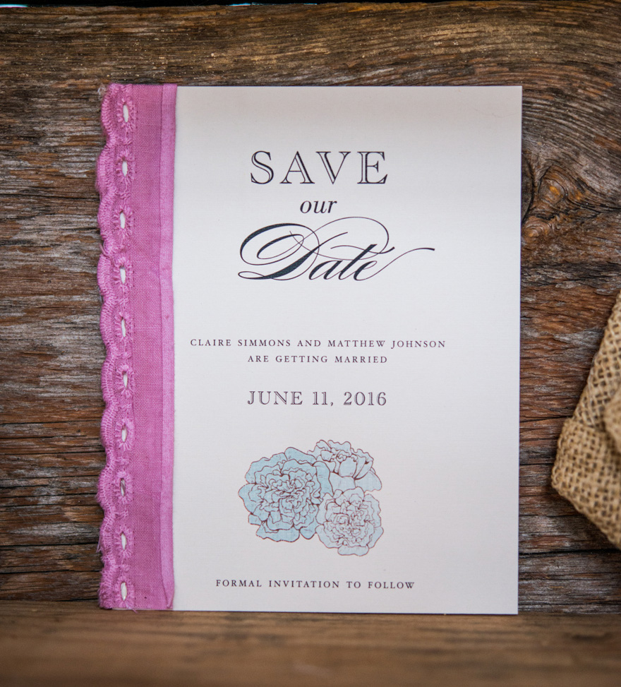 Burlap Chic Rustic Wedding Inspired Save The Date Cards | Confetti.co.uk