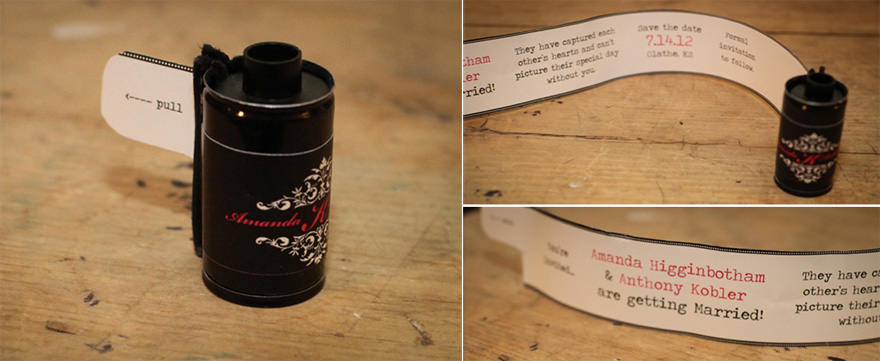 DIY Film Canister Save the Date Idea from Oh So Lovely | Confetti.co.uk
