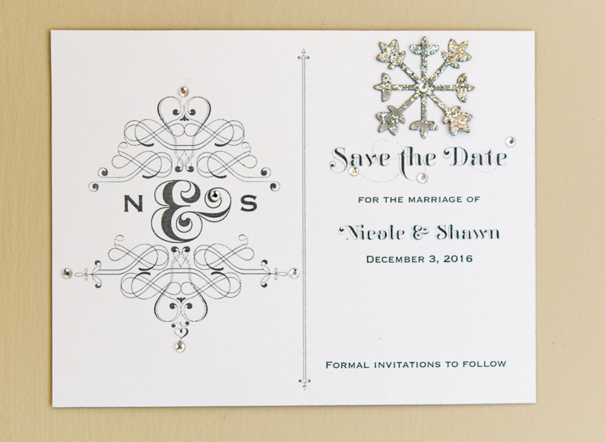 Fanciful Elegant Monogram Save The Date Card | Confetti.co.uk