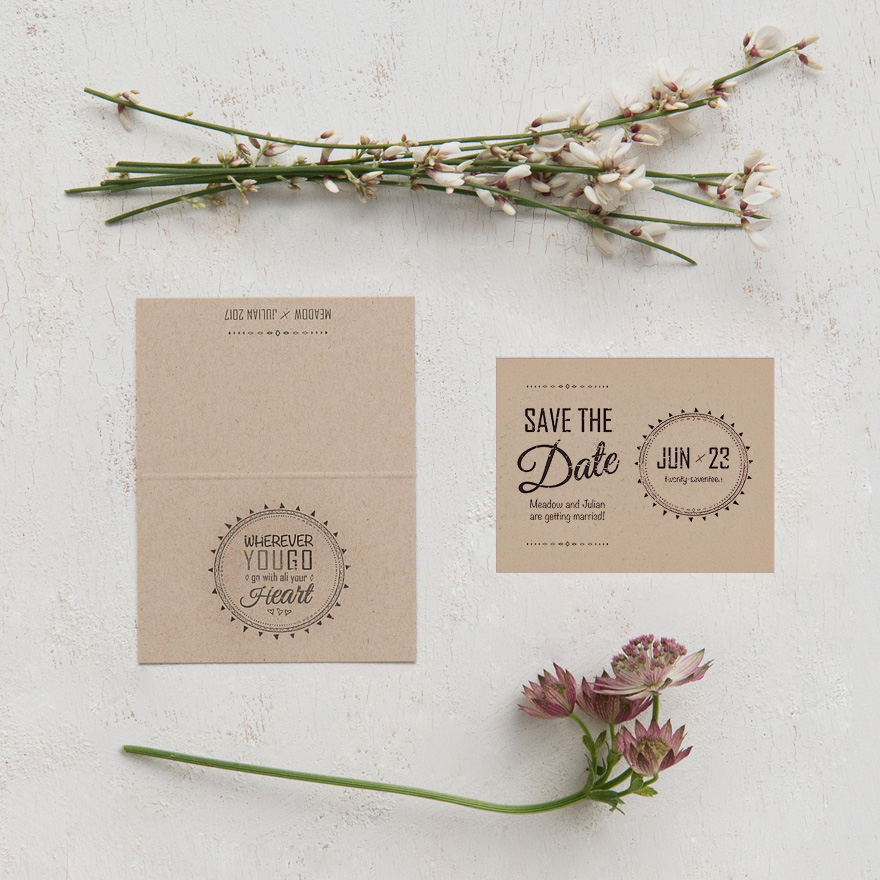 Free Spirit Nature Inspired Save The Date Card | Confetti.co.uk