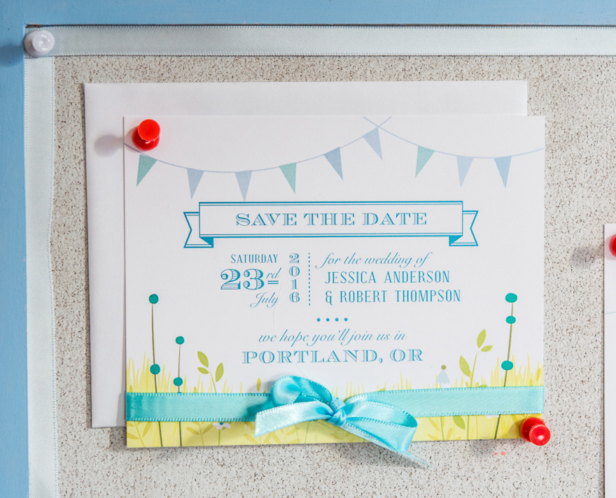 Homespun Charm Colourful Country Rustic Save The Date Card | Confetti.co.uk