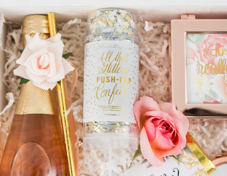 Metallic Gold and Silver Confetti Push Pop - Save the Date Confetti Push Pop | Confetti.co.uk