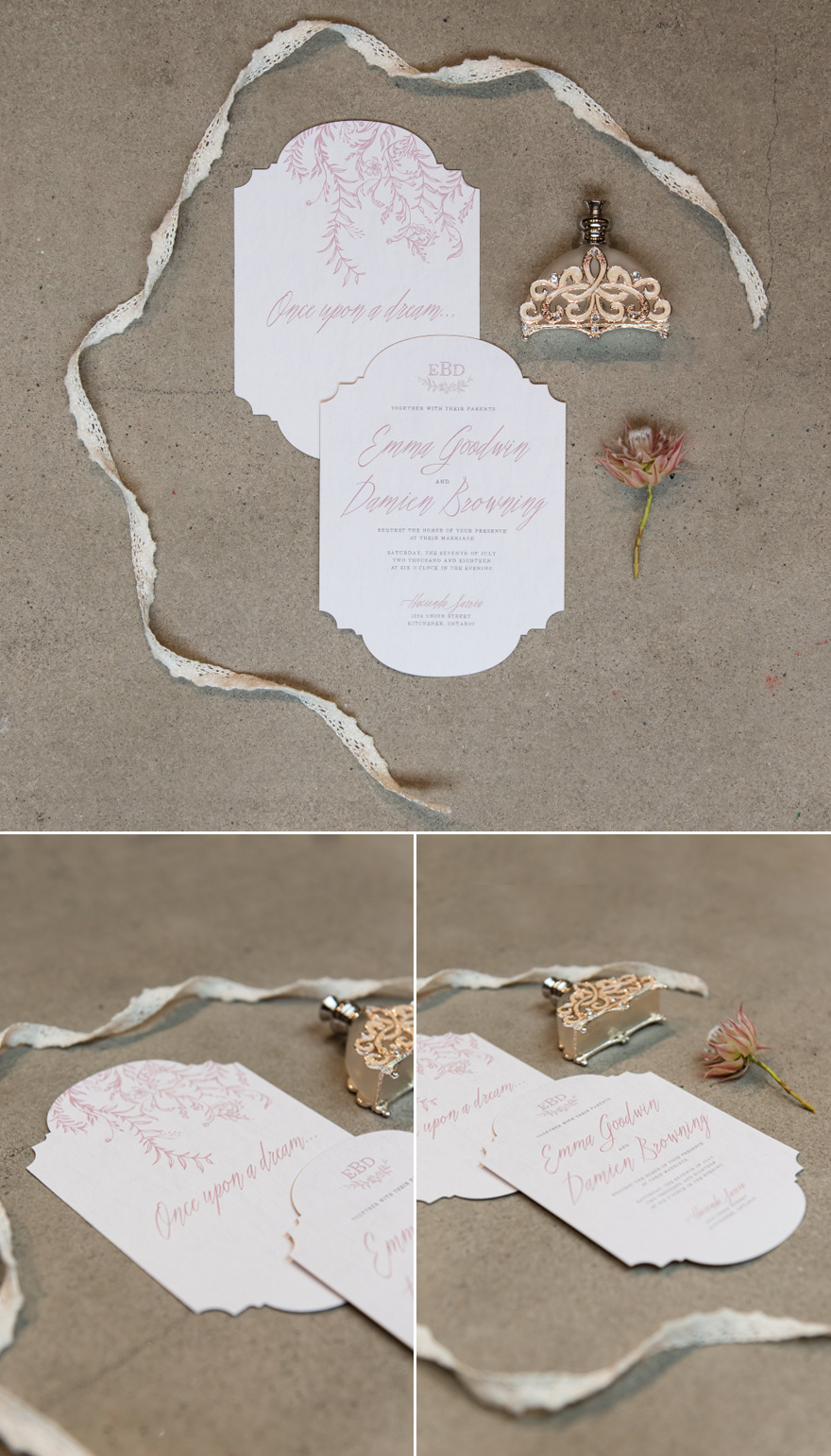 Modern Fairytale Wedding Invitation | Confetti.co.uk