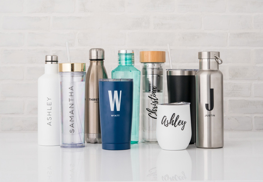 Personalised Water Bottles and Drinkware - Personalised Plastic Tumblers - Personalised Coffee And Tea Mugs | Confetti.co.uk