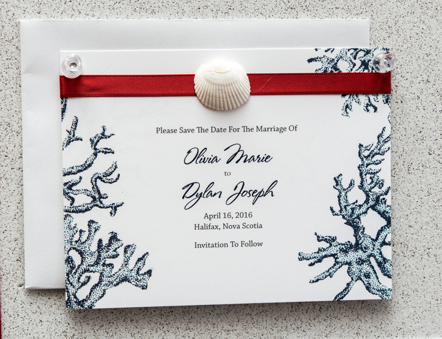 Reef Coral Save The Date Card - Nautical Romance Wedding Theme | Confetti.co.uk