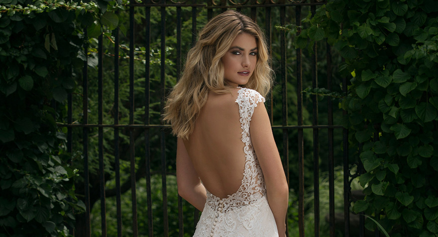 Wedding Dress Style 44053 - Slim Allover Lace Gown with Low Back - by Sincerity Bridal | Confetti.co.uk