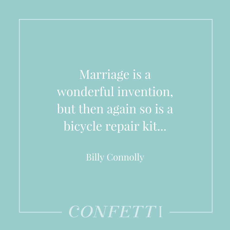 Billy Connolly Marriage Quote