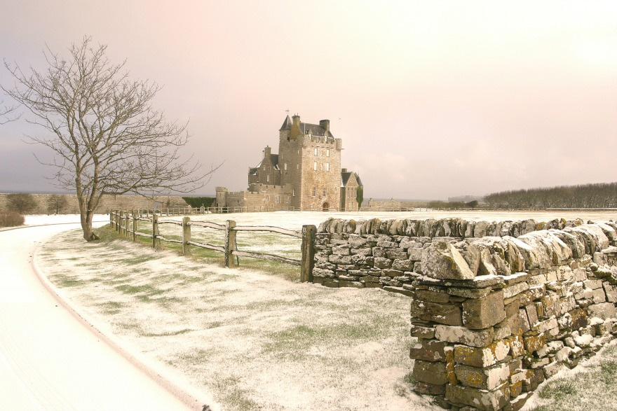 Ackergill Tower Hotel in Winter - Luxury Hotel In the Scottish Highlands - Castle Wedding Venue in Scotland by the Coast | Confetti.co.uk