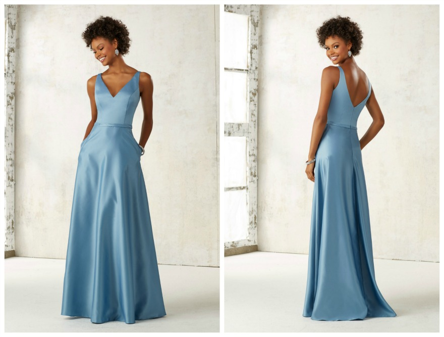 Blue bridesmaid dresses by Morilee | Confetti.co.uk