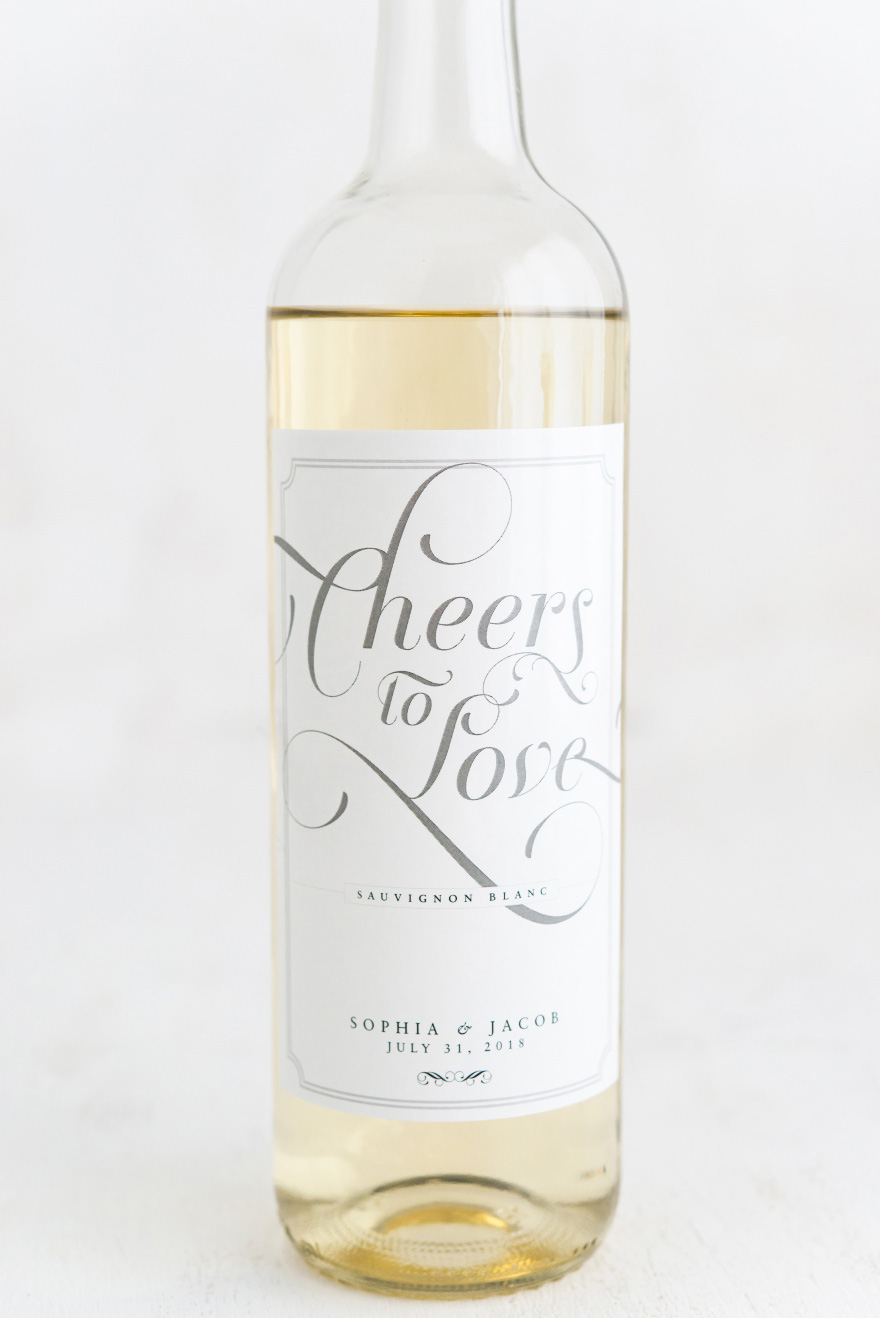 Cheers to Love Expressions Vintage Classic Wine Label | Confetti.co.uk