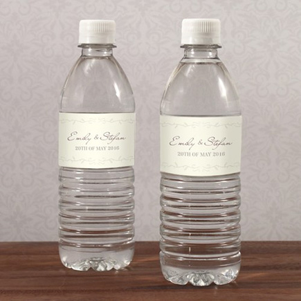 Rustic Equestrian Love Water Bottle Label - Simple and Understated Country Wedding Theme Design | Confetti.co.uk