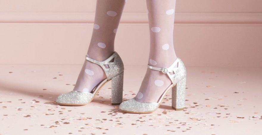 Silver Bridesmaid Shoes Jane Glitter by Charlotte Mills | Confetti.co.uk