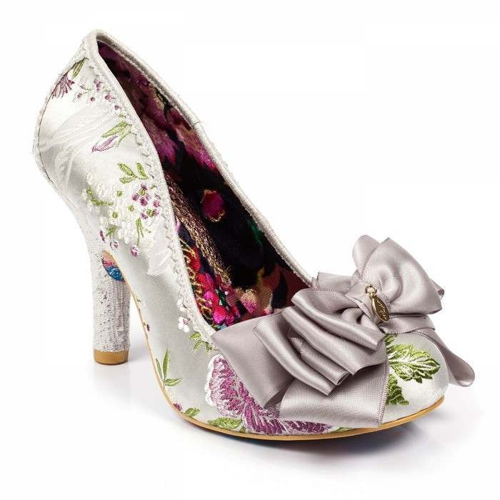 Silver bridesmaid shoes Ascot by Irregular Choice | Confetti.co.uk