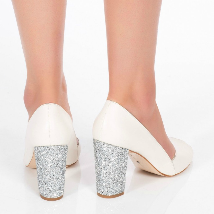 Silver Bridesmaid Shoes Becky Silver by Charlotte Mills | Confetti.co.uk