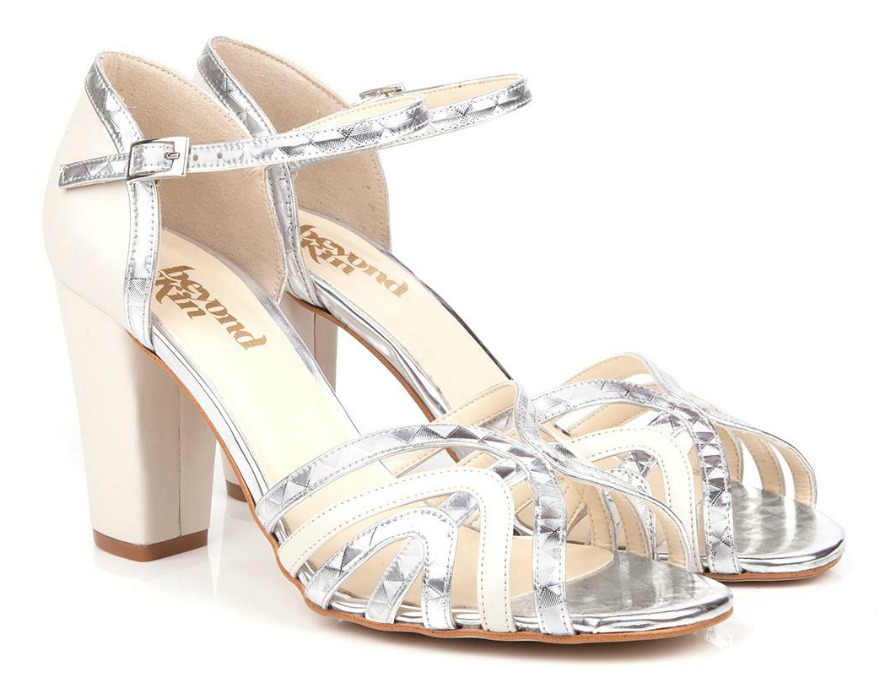 Silver bridesmaid shoes Kirstie by Beyond Skin | Confetti.co.uk