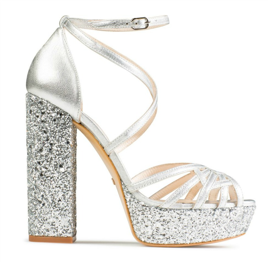 Silver Bridesmaid Shoes Elda by Charlotte Mills | Confetti.co.uk