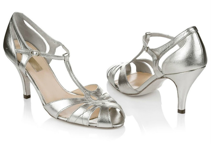 Silver bridesmaid shoes Ginger by Rachel Simpson | Confetti.co.uk