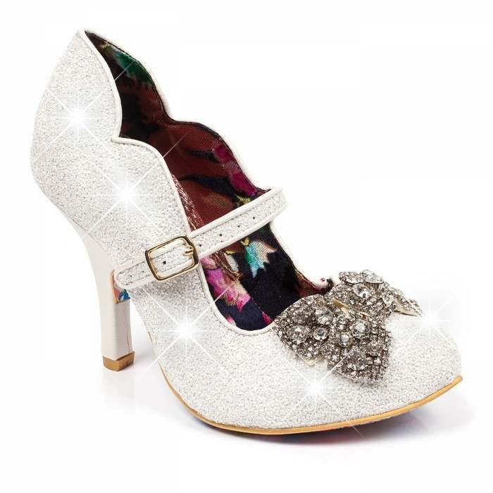 Silver bridesmaid shoes Shimmer by Irregular Choice | Confetti.co.uk