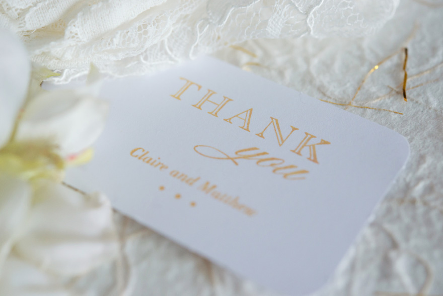 Thank You Notes - A Guide on What to Write in a Thank You Card - Burlap Chic Thank You Personalised Rubber Stamp | Confetti.co.uk
