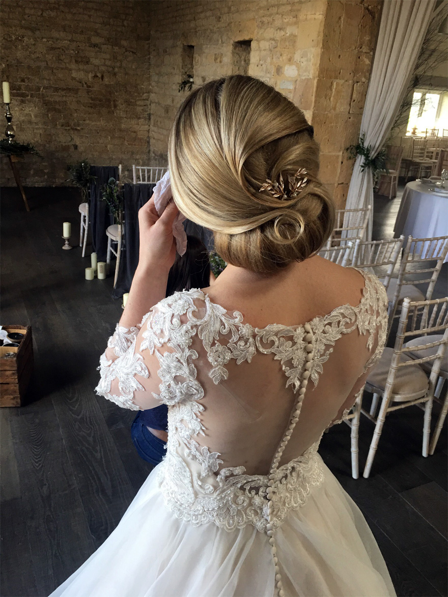 Wedding hair styling by Lauren Gosling Hair - Win Your Dream Wedding 2018