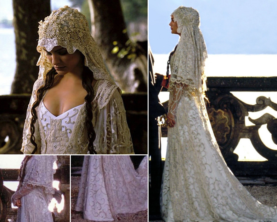 Vintage Lace Style Wedding Dress and Lace Veil - Padme Amidala Wedding Dress from Star Wars Episode II - Attack of the Clones | Confetti.co.uk
