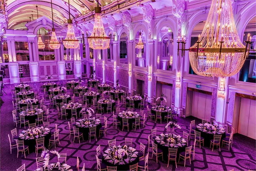 De Vere Grand Connaught Rooms in Covent Garden with Ornate Arched Ceilings and Impressive Chandeliers - Historical Asian Wedding Venue in Central London | Confetti.co.uk