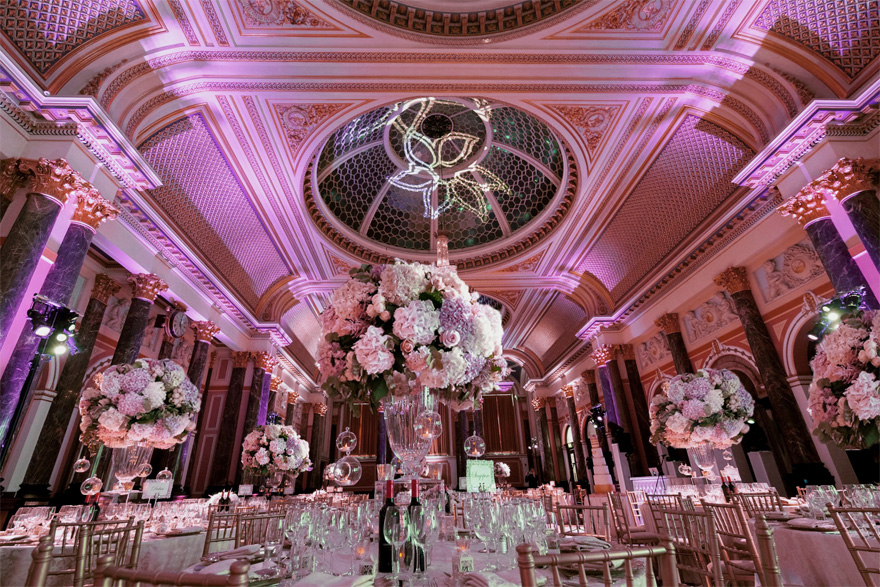 Gibson Hall Historic Grade I Listed Wedding Venue - Asian Wedding Venue in London - Marble Pillars and Glass Dome Ceiling | Confetti.co.uk