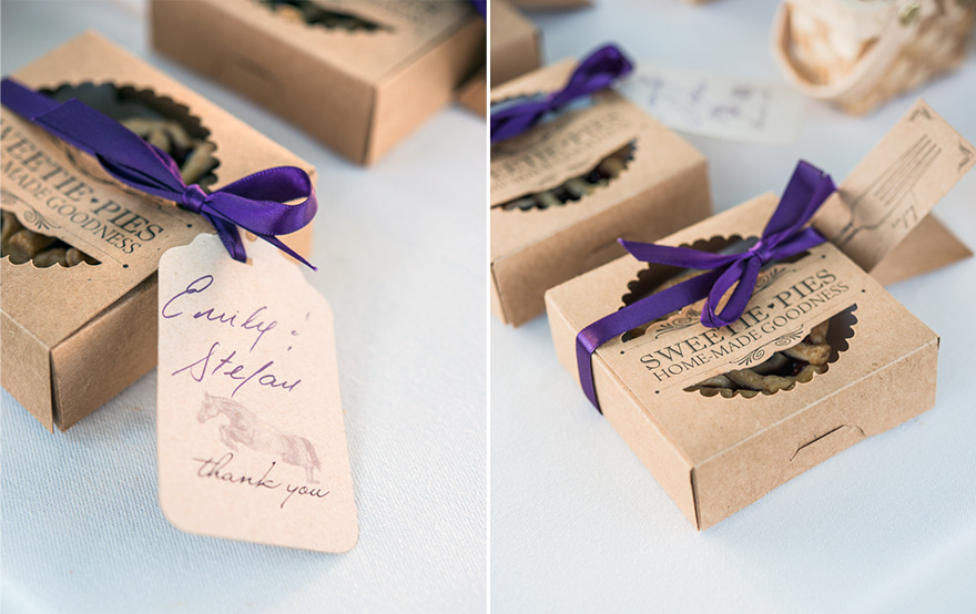 Homemade Baked Sweetie Pies Rustic Wedding Favour Ideas | Confetti.co.uk