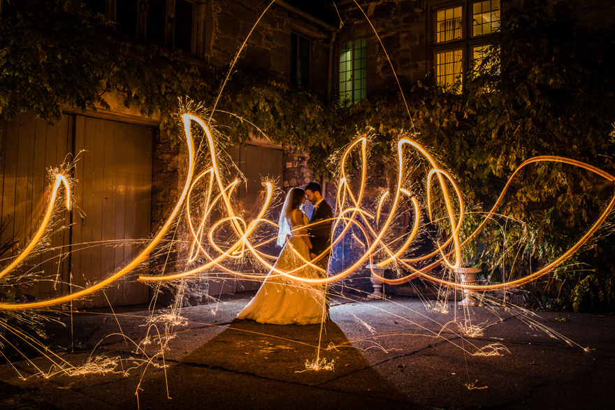 Long Exposure Sparkler Wedding Photography by Joel Skingle Photography - Beautiful Wedding Photo Ideas | Confetti.co.uk